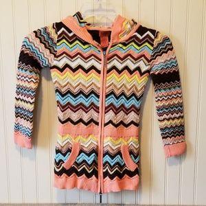 Missoni kids sweater.  Medium.  Coral blue brown